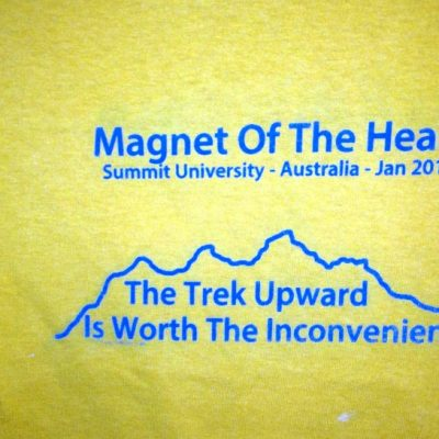 Magnet of the Heart on Gold shirt